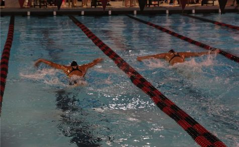 Girls swim and dive team breaks dual meet record