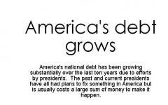 Efficient planning to reduce Americas debt