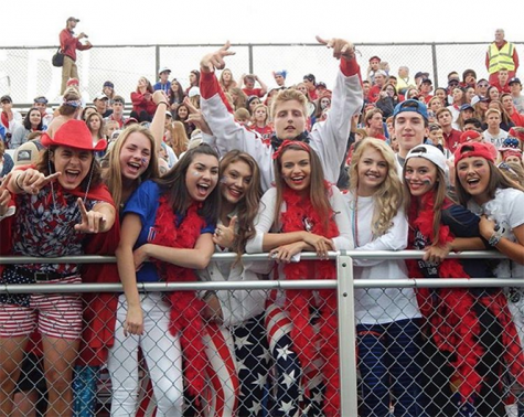 Super fans show super school spirit