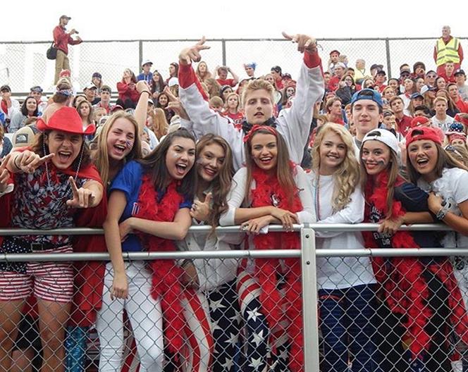 Super fans show super school spirit