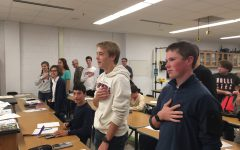 When there is 'justice for all,' students will stand for the Pledge
