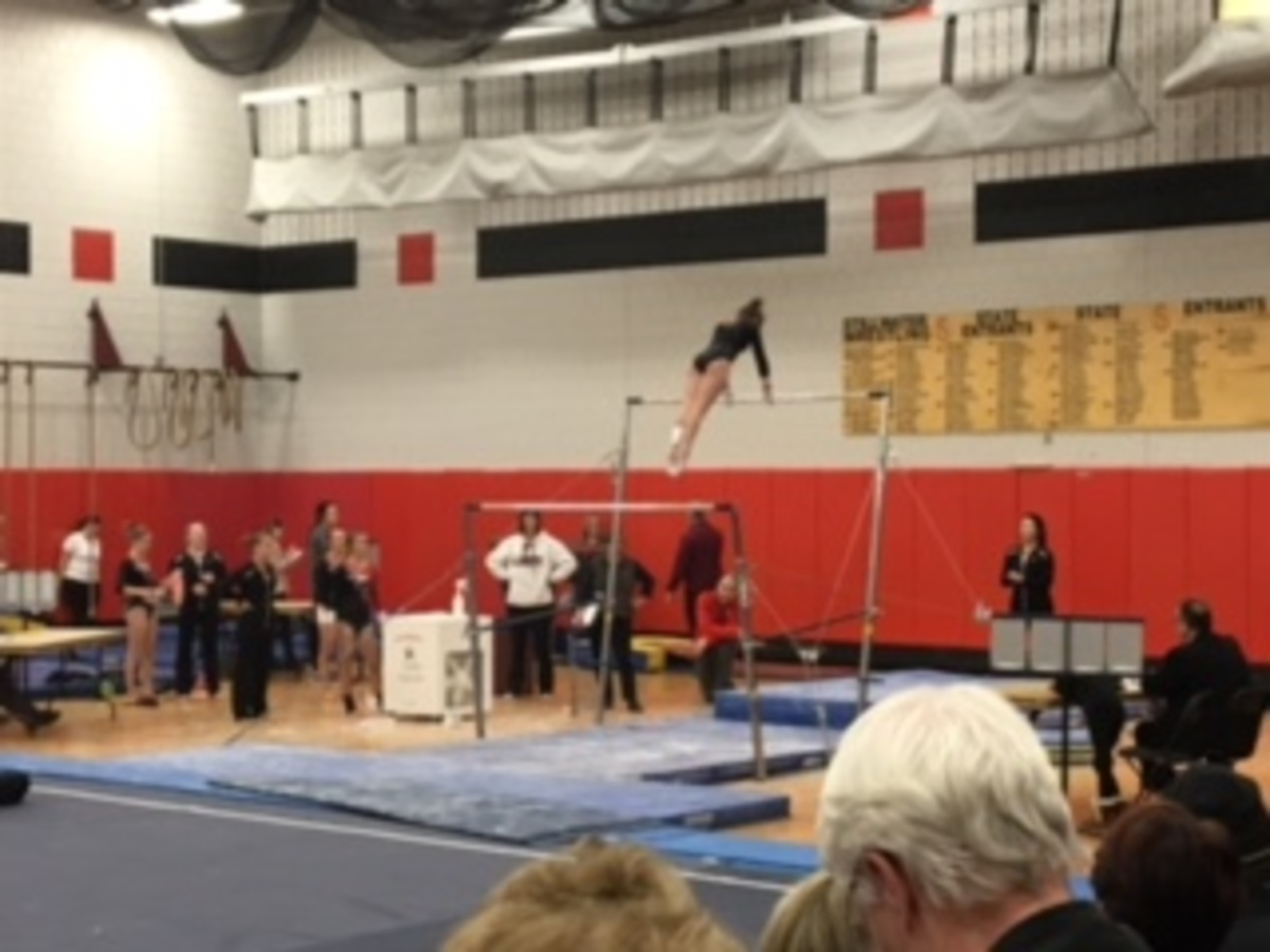 Gymnastics team prepares for sections after topping long time competitor