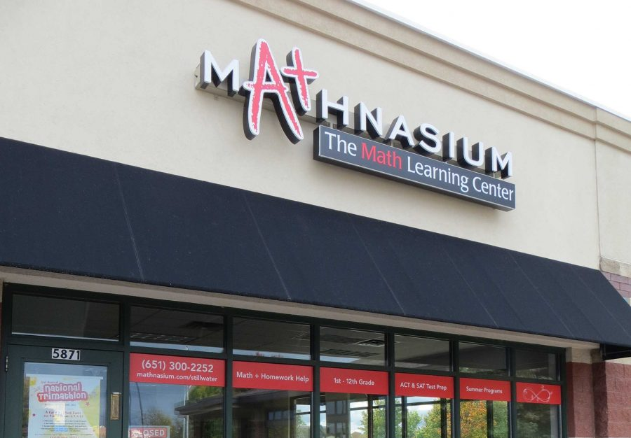 The Mathnasium building, within walking distance of Stillwater Area High School, is where students can go for help on their schoolwork.