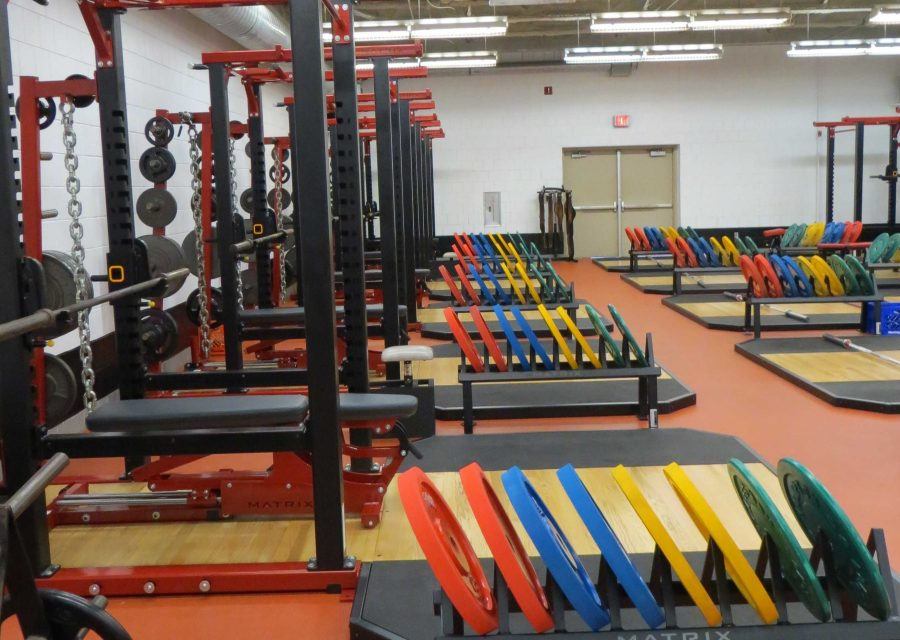 Through donations from the community, as well as athletic organizations, coaches were able to purchase new equipment and update the weight room.