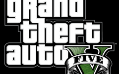 Grand Theft Auto V's title sequence before accessing the main menu.