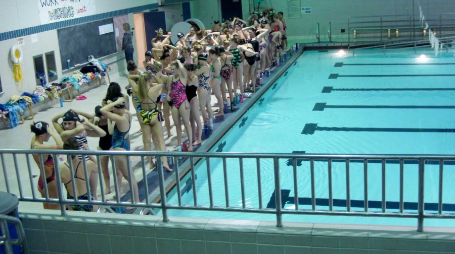 The+girls+swim+team+gets+ready+for+their+State+True+Team+meet+to+start.++In+a+True+Team+swim+meet%2C+every+member+of+the+team+participates+in+one+event+to+try+and+gain+points+for+their+schools+team.++This+is+the+most+important+swim+meet+of+the+entire+year.++