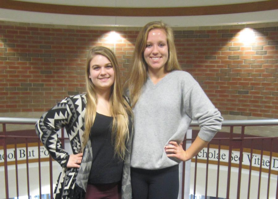 Key Club leaders Hannah Crawford and Kelia Demming are excited for what the future holds for their club.