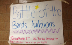 "Photo by Lexie Sherrick Abby Farmer said the instant she saw the posters around school for Battle of the Bands she was excited. ""While I am not in a band, I am looking forward to seeing friends of mine who are,"" said Farmer."