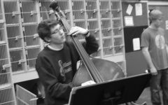 "Senior Nick Benish playing the cello in one the many music programs he is involved in. Benish said, ""It's hard to imagine what my life would be like without music."""