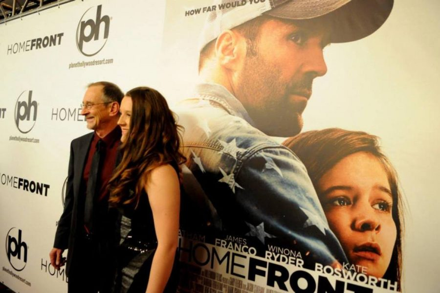 Tom Ortenburg the President of Millennium Films, author Chuck Logan, and actor James Franco all made an appearance at the world premiere of Homefront at the Planet Hollywood Resort and Casino Las Vegas on Nov. 20, 2013.