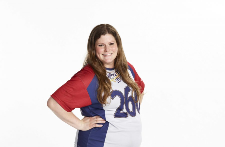 """Press photo  NBC Studios Fredrickson works towards her goal to lose weight on the Biggest Loser season 15. """"I was very hard on myself for some of the decisions I made. I'm ready to become that strong and confident girl again,"""" said Rachel Fredrickson."""
