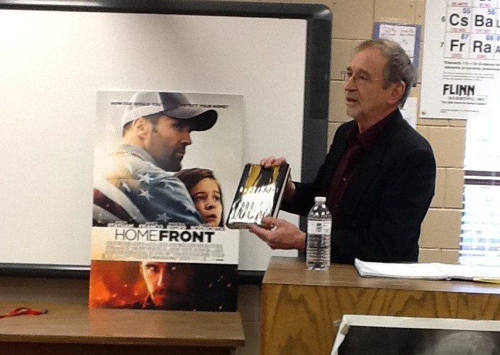 """Author Chuck Logan speaks about his experience of his novel Homefront becoming a movie. """"I'm generally called a critically acclaimed unknown author. To me, it was a business deal,"""" said Logan."""