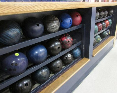The Intramural bowling team is formed, students  look at the variety of bowling balls to pick which ball suits them best.
