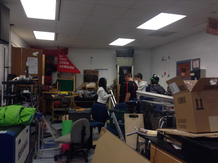While+many+students+spend+their+free+time+in+a+gym%2C+music+room+or+classroom+after+school%2C+the+robotics+team+spends+time+in+the+cluttered+room+that+is+pictured.+While+building+robots+is+the+main+thing+they+do+after+school%2C+that+is+not+the+true+goal+of+the+club.+Senior+Joey+Fedor+said%2C+%E2%80%9COur+goal+is+to+inspire+those+in+the+group+and+also+those+around+us%2C+through+the+use+of+science+and+engineering.+We+want+to+help+people+younger+than+us+in+our+community+by+showing+where+their+school+can+lead+them+and+make+them+excited+about+their+education.%E2%80%9D
