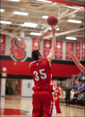 Senior Kyle McKinley #35. Kyle has committed to playing basketball at University of Albany next year.
