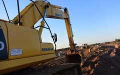 An excavator parked on a work site of future homes off of Manning Avenue. Edward Gorman owner of local restaurant Gormans in Lake Elmo explains how the citizens have become frustrated by saying,