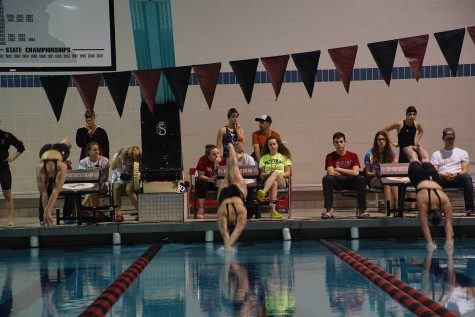 The girls swim and dive team worked hard to get 125 consecutive wins.