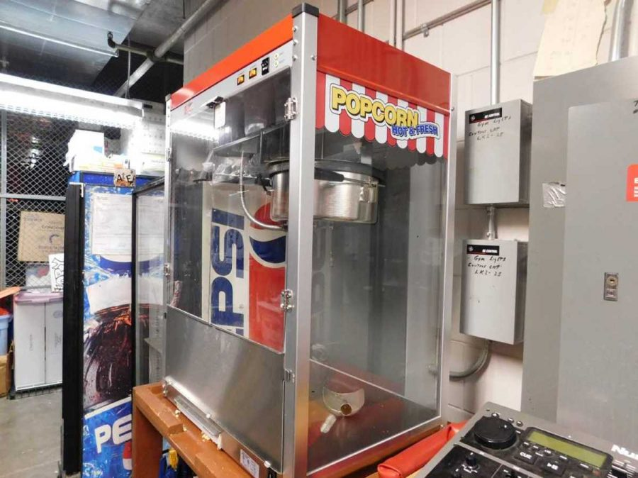 The brand new popcorn machine that was going to be used this year. Students don't want to see the popcorn machine go. Senior Erica Oren said,