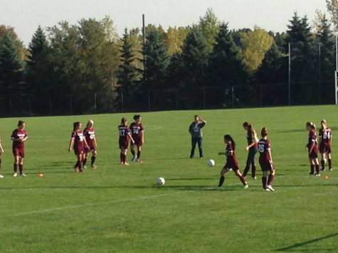 The soccer team takes to the field on Tuesday, Oct. 6. Playing soccer can lead to serious repetitive stress injuries.