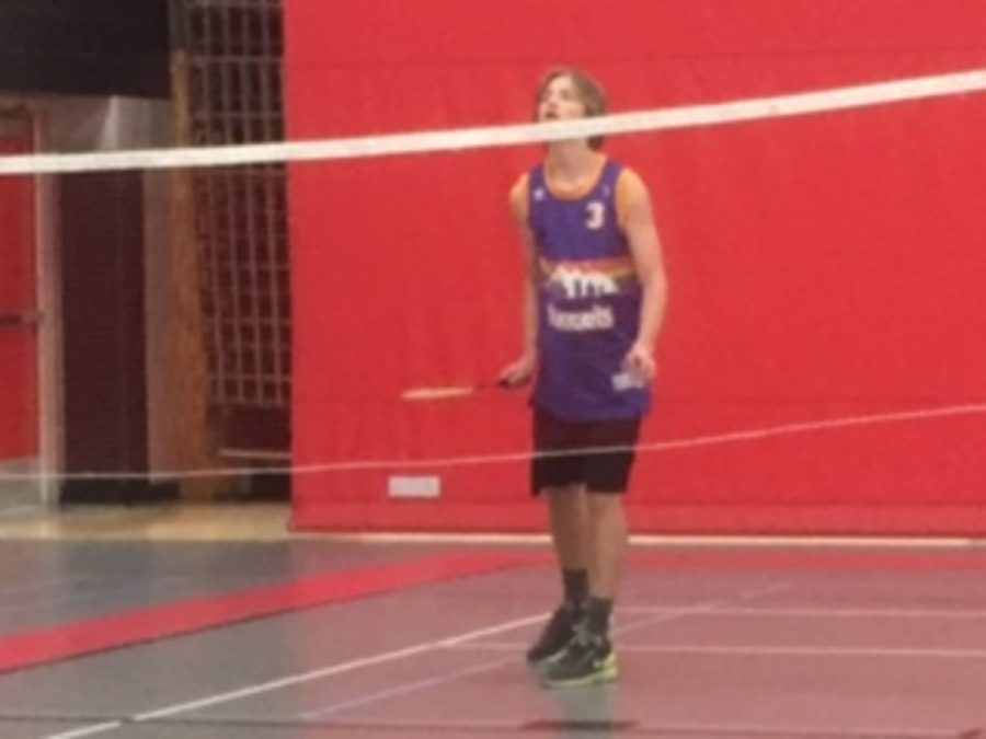 Senior Robbie Dunham is playing in his first match on Nov. 23. Dunham explained his favorite aspect of badminton,