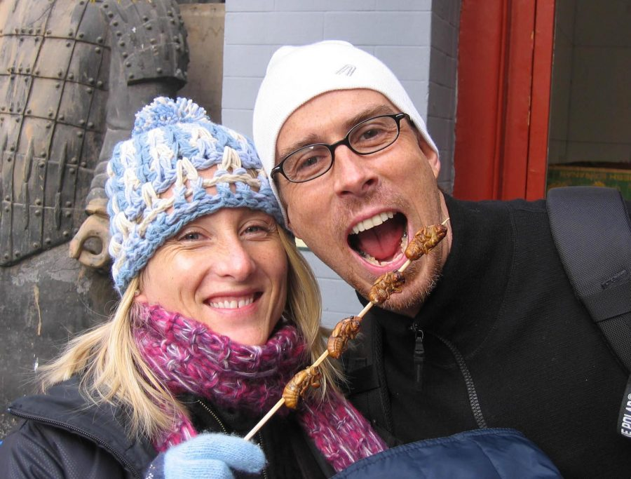 """As Sunny Shaw and Matt Kiedrowski eagerly awaited to eat their bugs on a stick, their  adventurous spirit and positive attitude was demonstrated. While they were teaching in Taiwan it took courage to leave America and travel to a completely new place out of their comfort zone. However they welcomed their new life wholeheartedly. Part of living in a new place is experiencing the new culture. Kiedrowski explains, """"The culture shock was still pretty significant. It's almost like you wake up after three months and then you can think, okay now I'm back to normal. It takes that long."""""""