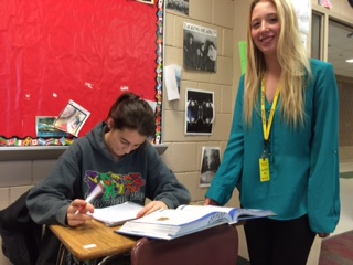 Social studies teacher becomes student for a day