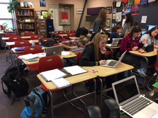 After school, these students together work on daily homework assignments they are given in math.