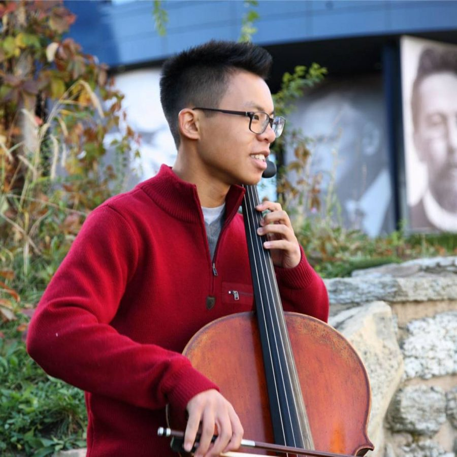 """Luk says,""""My first cello concerto, it was the first time [he] realized that [he] didn't wanna sound like crap, and could actually do something with music."""