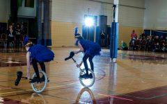 No hands and circus acts, Neala's unicycling hobby