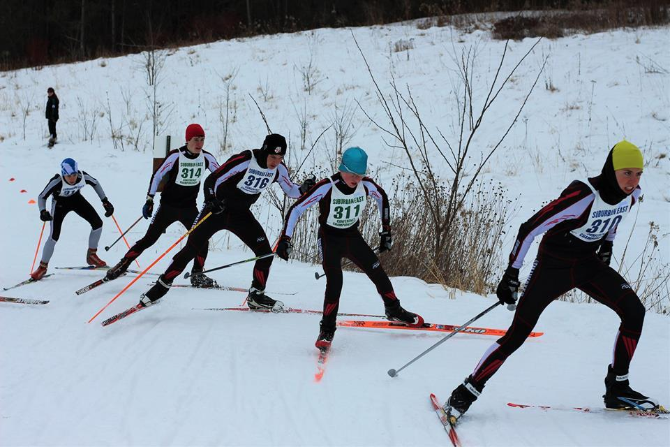 Four+Stillwater+skiers+charge+up+the+hill+like+a+train+in+the+teams+recent+conference+race+on+the+26th+of+January.+From+right+to+left+junior+Noah+Kneeskern%2C+7th+grader+Caden+Albrect%2C+senior+Seth+Cattanach%2C+and+junior+Shad+Kraftson.+%22I+think+this+team+is+worthy+of+a+lot+of+respect%2C+and+I%27ll+leave+it+at+that%2C%22+coach+Kris+Hansen+says.+
