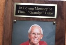 Coach Elmer Luke honored with bench dedication
