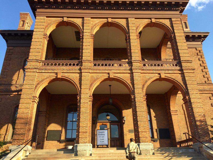 """The incredibly interesting Historic Courthouse in downtown Stillwater was chosen for the venue for the Con Amici orchestra concert.  Last year, Con Amici played at the courthouse as well.  This building was made in 1870, but still hosts many events to this day.  """"I played at the courthouse last year for Con Amici as well,"""" junior Matt Dietrich says."""