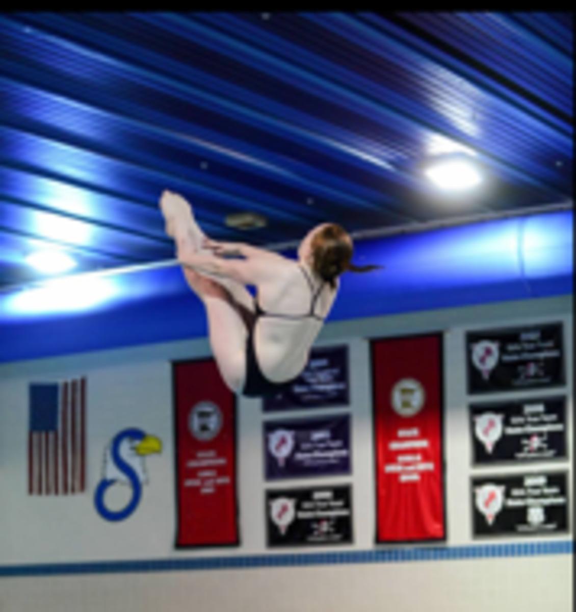 Classon shows off skills for swim team