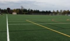 Picture of one of the turf fields. There has been no problems with the turf fields and everything is looking up. Michael said,