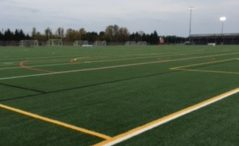 Photo By Jack Reinseth - Picture of the new turf fields. With the new turf fields it allows us to always be able to use it no matter the weather. Michael said