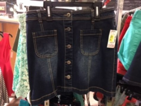 An everyday skirt you can find for sale at a local store anywhere near you.