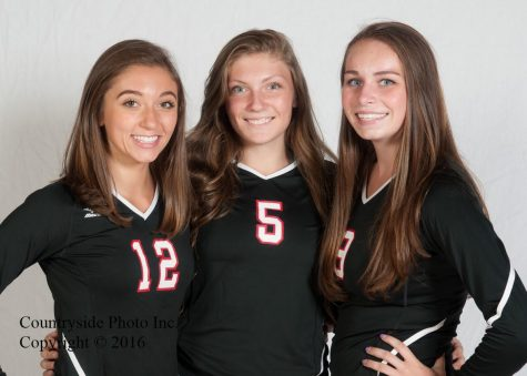 Photo Courtesy Brad Cornell - Countryside Photo These three young ladies are the senior captains of the varsity girls volleyball team. From left to right: Jane Moore, Lily Strom, and Sarah McCarthy.