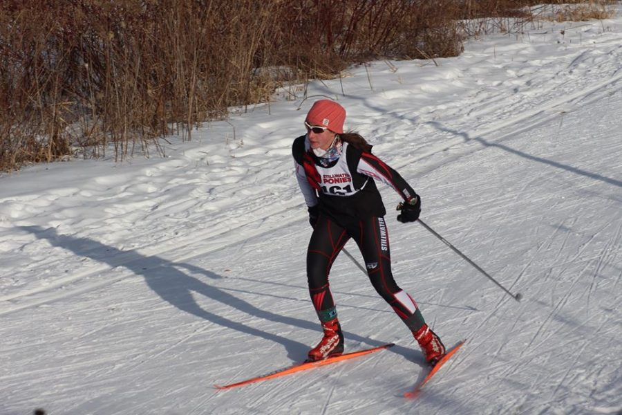 Junior+Rana+Kraftson+competes+at+the+Suburban+East+conference+race.+Junior+Hannah+Brown+says%2C+%22This+year+looks+really+promising+for+us+and+we+are+all+getting+anxious+to+race+on+snow+again.%22+