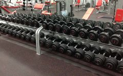 This is the weight set in Snap Fitness. Senior Patrick Sullivan says,