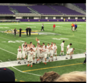 Boys soccer team completes 'Road to the Bank'