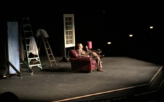 """The 39 Steps"" was put on at Stillwater Junior High School Nov. 17-19. The play used little set decoration to aide in the performance ""It allowed more opportunities for the actors to convey a comedic tone without relying on a set and props,"" Larkins says."