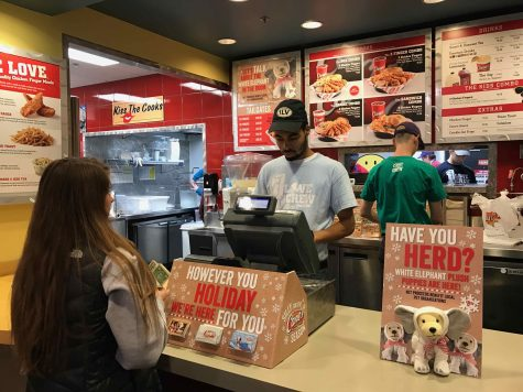 Ordering at Canes is fast and easy due to there only being four things on the menu. Sophomore Jack Seipel says,