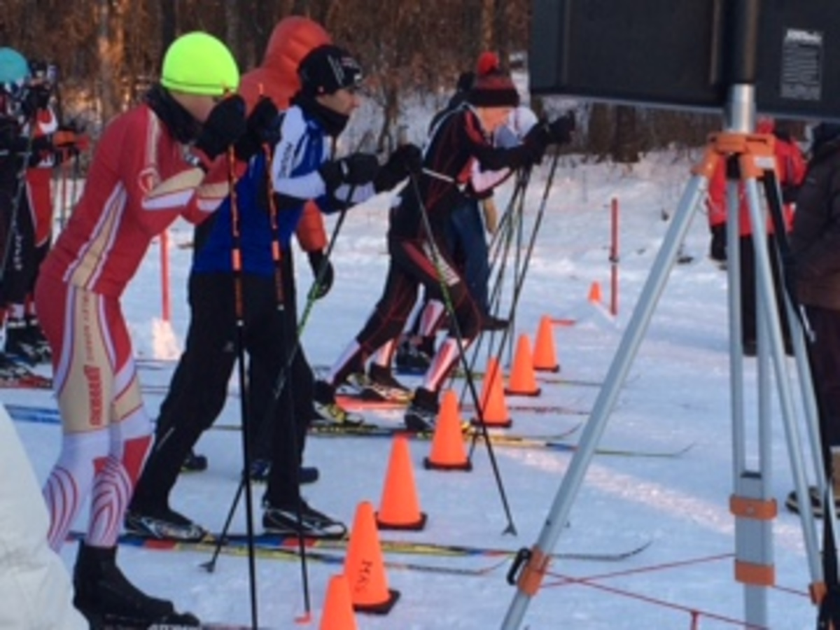 Boys+Nordic+skiers+get+ready+to+take+off+on+the+course+with+less+than+ten+seconds+until+the+start.+Senior+captain+Nolan+Noer+explains%2C+%E2%80%9CThere%E2%80%99s+so+much+adrenaline+running+through+your+body+when+there%E2%80%99s+less+than+ten+seconds+and+the+person+counts+down.+You+must+be+extremely+mentally+and+physically+prepared+in+order+to+stay+under+control+and+get+the+best+start+possible.%E2%80%9D%0A