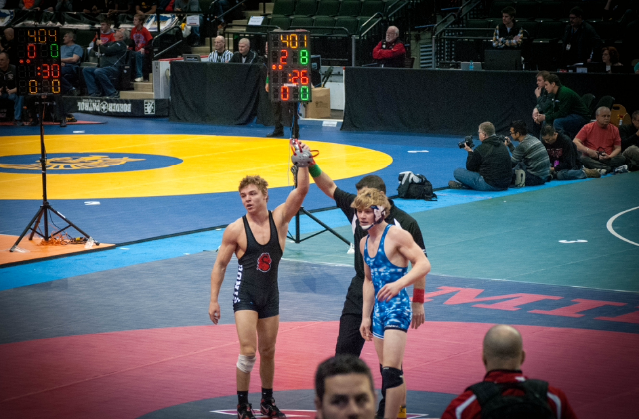Photo+courtesy+of+Stillwater+Area+Wrestling-%0A%22Young+Captain%22%0ASophomore+captain+Will+Harter+with+a+big+victory+last+season+against+Wayzata.+This+dual+was+to+determine+who+went+to+the+section+finals.+%0A%22When+its+a+big+match+like+that+one%2C+its+hard+to+do+well+because+you%27re+constantly+nervous+and+you%27re+not+thinking+right%2C+I+guess+the+secret+to+dealing+with+the+pressure+is+just+trying+to+stay+calm%22+sophomore+captain+Will+Harter+says.