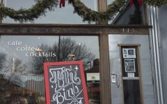 """Tin Bin's stays in the holiday trends and decorates their cafe for the season, """"It's a cute place, the look of the commander is a good look for a little place like Tin Bin's,"""" junior Emily Fiorillo says."""