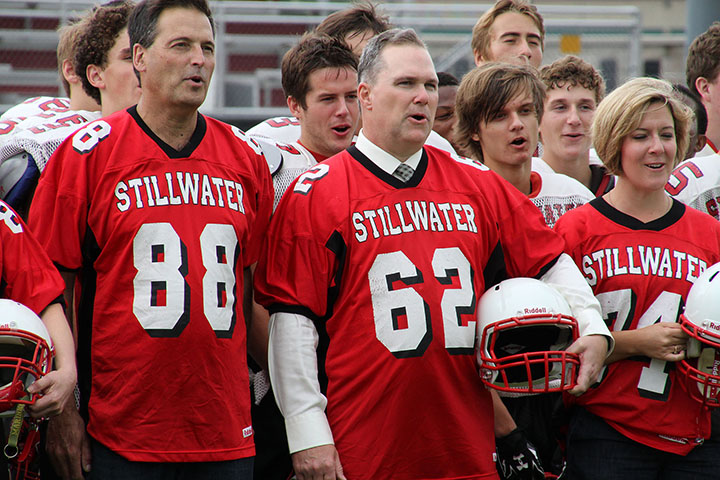 """Howlett (#62) had a strong will to live. What was most important to him was the relationships he held with his students, participating in school events and living in the present. A former administrator at many local schools, Howlett got every involved in sports. Donna Howlett, Howlett's wife says, """"There are even kids who remember him from Benilde St. Margaret's where he started the girls hockey program, or Centennial, where he was the varsity volleyball coach- he really revamped program when they were in a slump."""""""