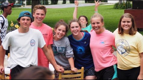 Photo courtesy Holly Ringsak. Young Life teens smile for the camera at Castaway camp.