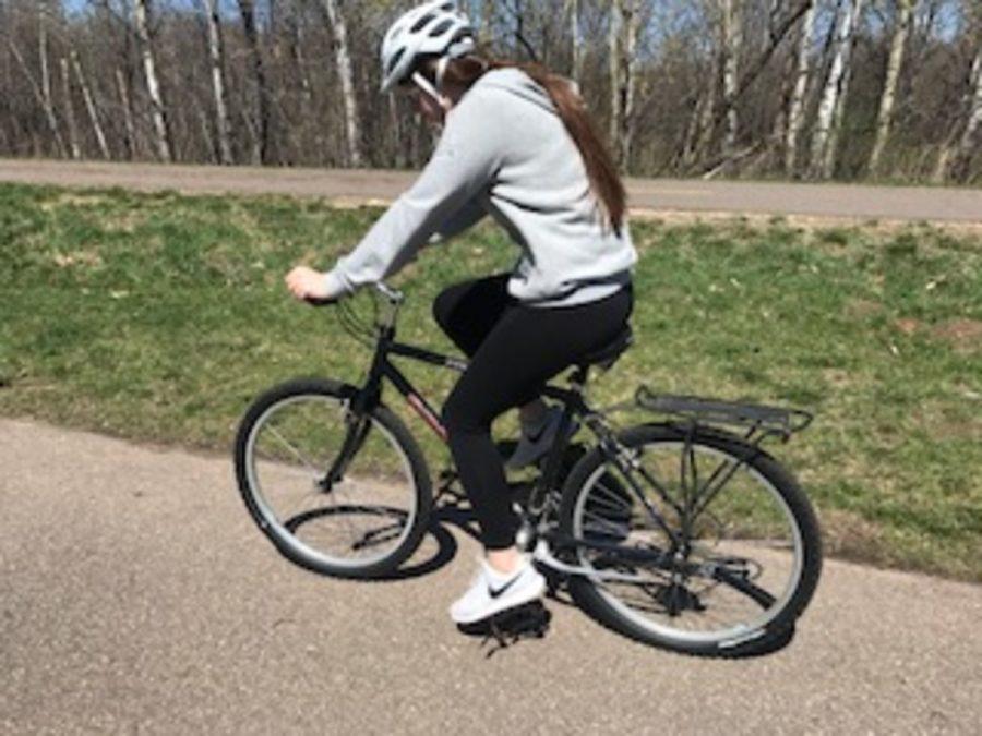 Cycling+away