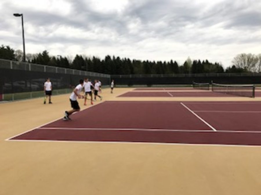 The tennis team is optimistic this year in their chances at making the state tournament.