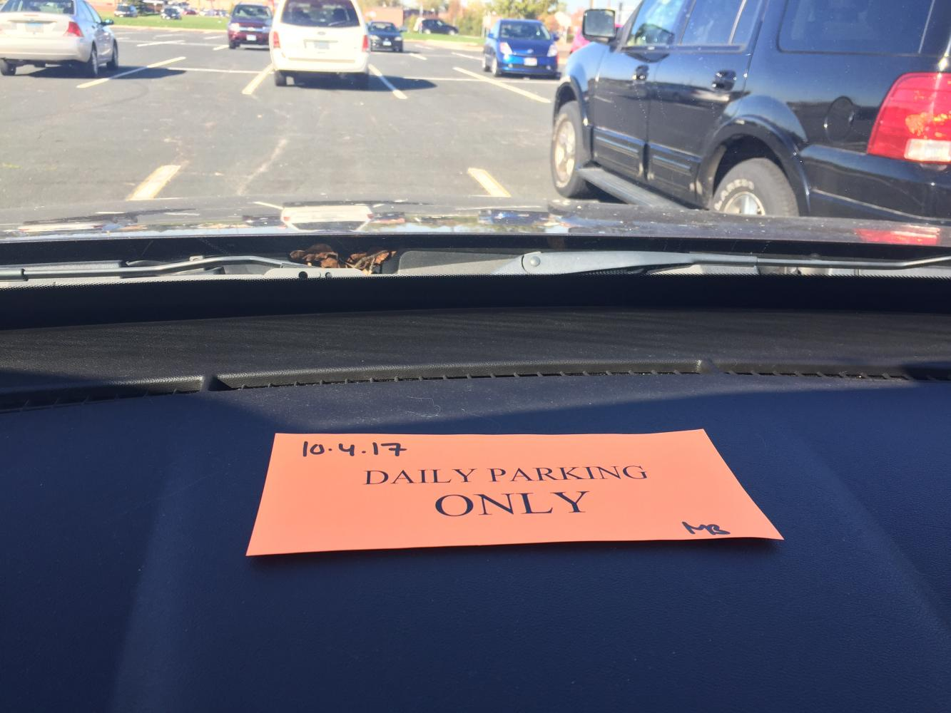 Students either have to cough up the chase for the high priced parking permit or try and find another ride to school.